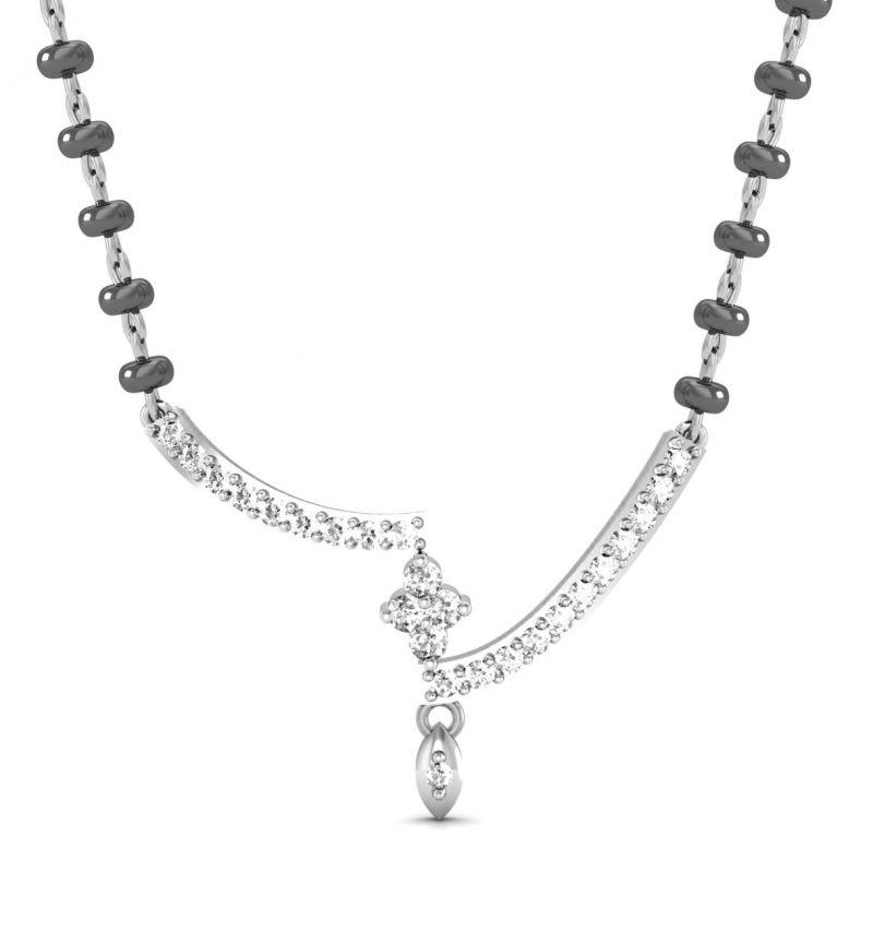 Buy Avsar Real Gold And Swarovski Stone Rajastan Mangalsuta Avm078wb online