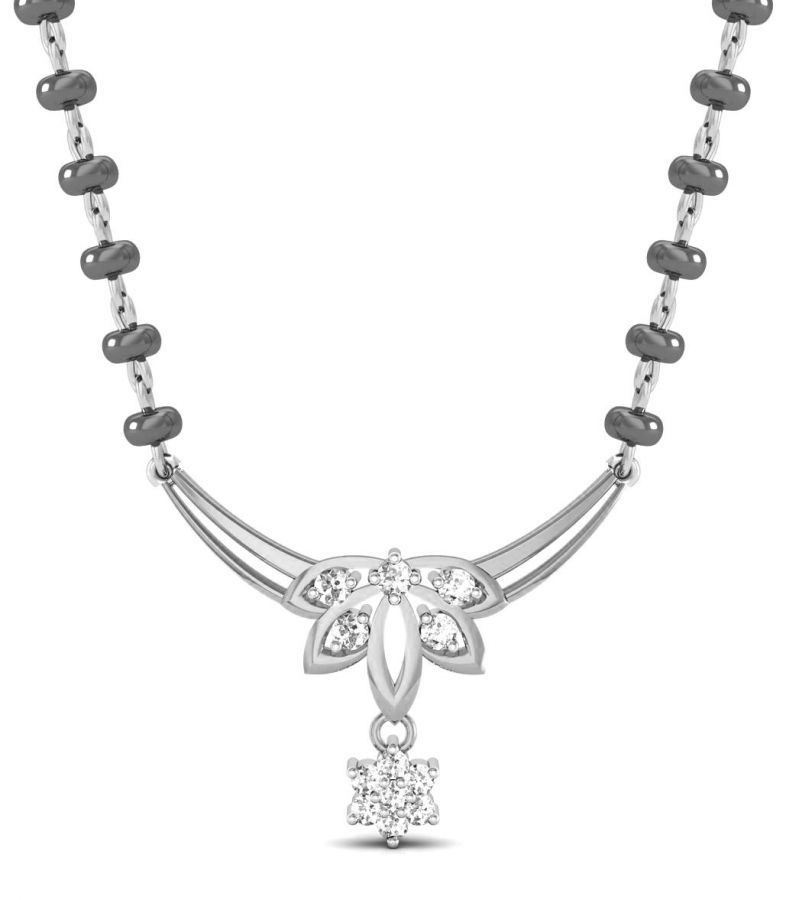 Buy Avsar Real Gold And Swarovski Stone Amruta Mangalsutra Avm080wb online