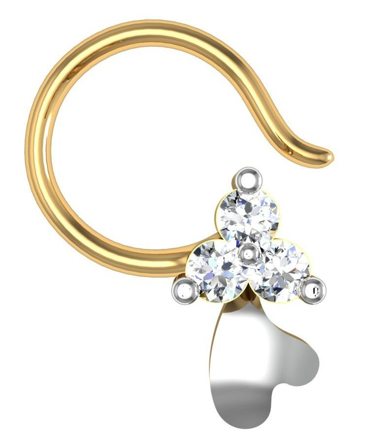 Buy Avsar Real Gold and Diamond Gujarat Nose Ring online