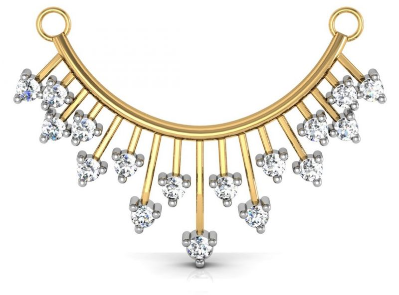 Buy Avsar Real Gold And Swarovski Stone Panaji Mangalsutra Avm013yb online