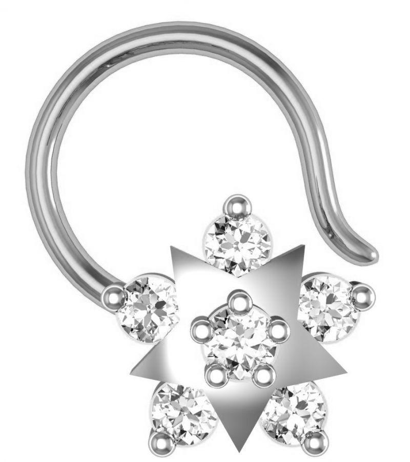 Buy Avsar Real Gold and Swarovski Stone Anjali Nose Ring line
