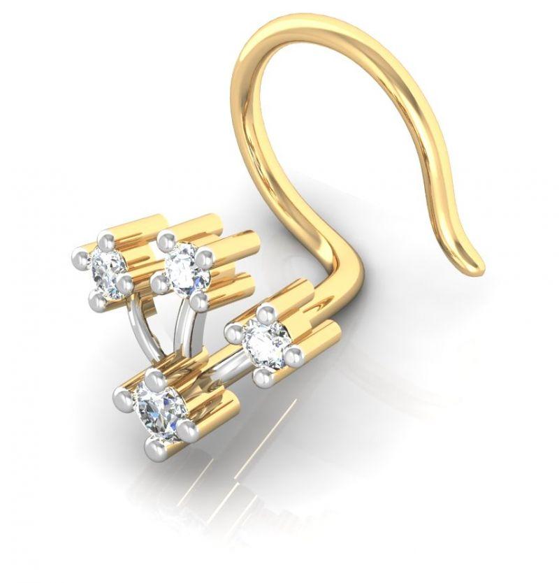 Buy Avsar Real Gold and Swarovski Stone Chennai Nose Ring line