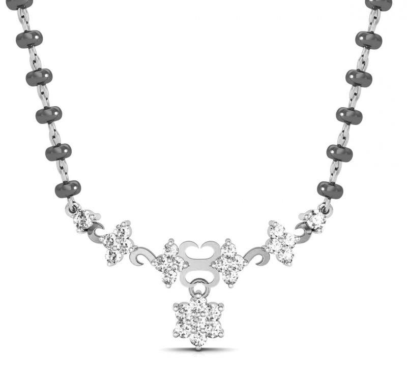 Buy Avsar Real Gold And Swarovski Stone Vaishali Mangalsutra Avm058wb online
