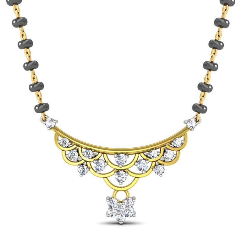 Buy Avsar Real Gold And Swarovski Stone Raghini Mangalsuta Avm081yb online
