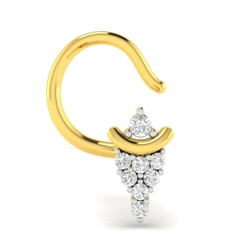 Buy Avsar Real Gold and Diamond Noopur Nosering online