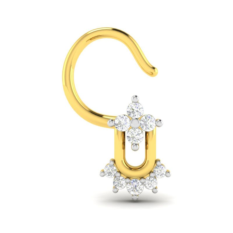 Buy Avsar Real Gold and Diamond Nisha Nosering online