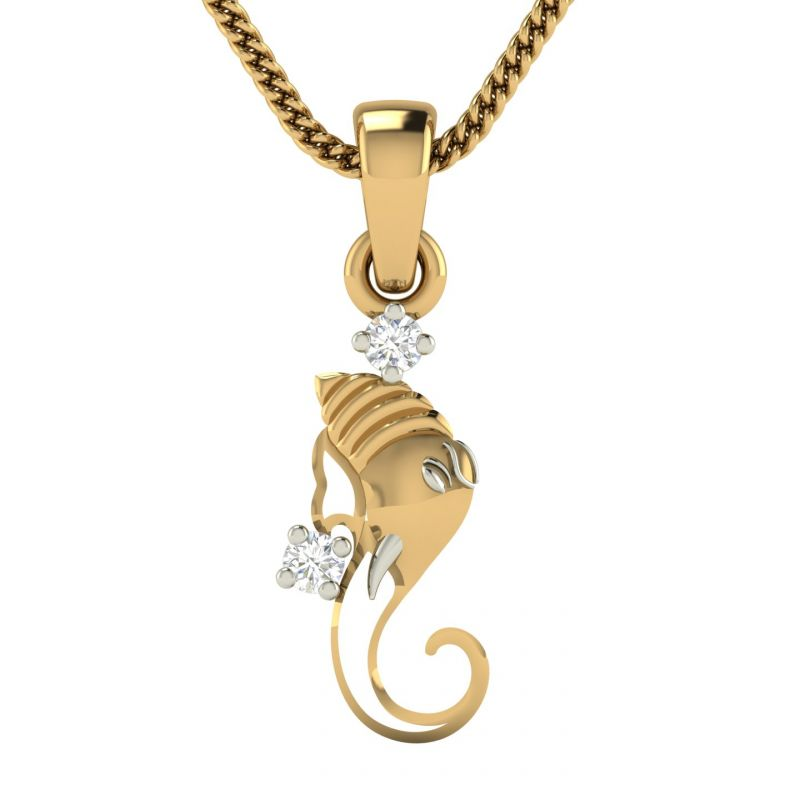 Buy Avsar Real Gold and Diamond Anvita Pendant online
