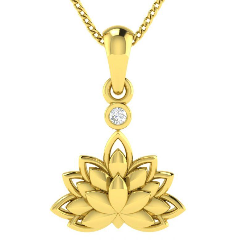 Buy Avsar Real Gold And Diamond Divyanka Pendant Avp025ya online