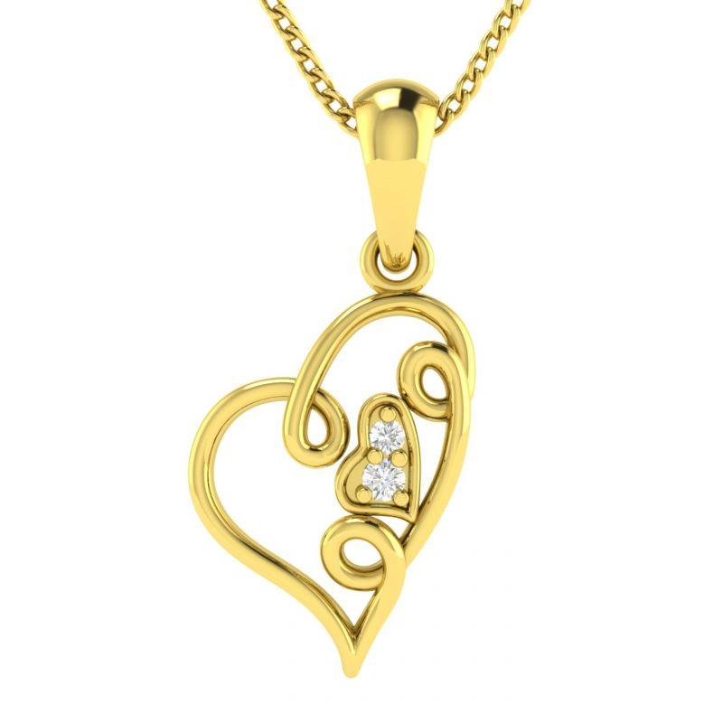 Buy Avsar Real Gold And Diamond Amita Pendant Avp032ya online