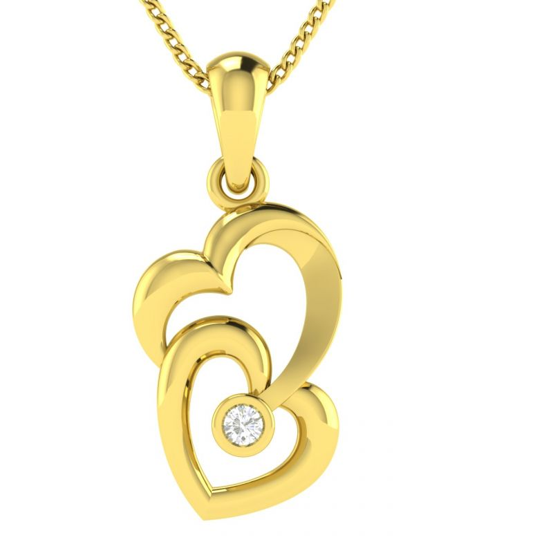 Buy Avsar Real Gold and Diamond  Kamini Pendant online