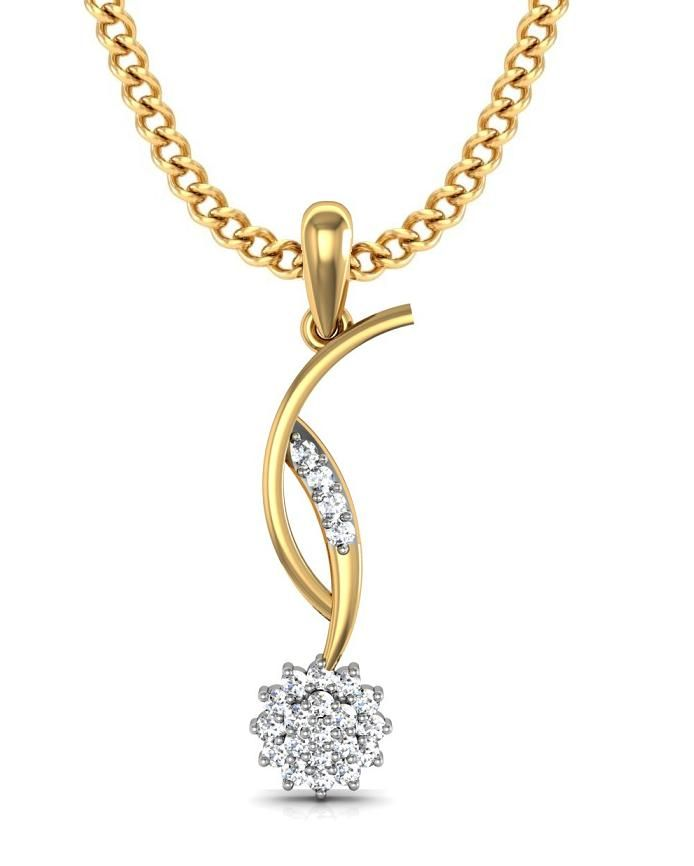 Buy Avsar Real Gold and Swarovski Stone Poonam Pendant online