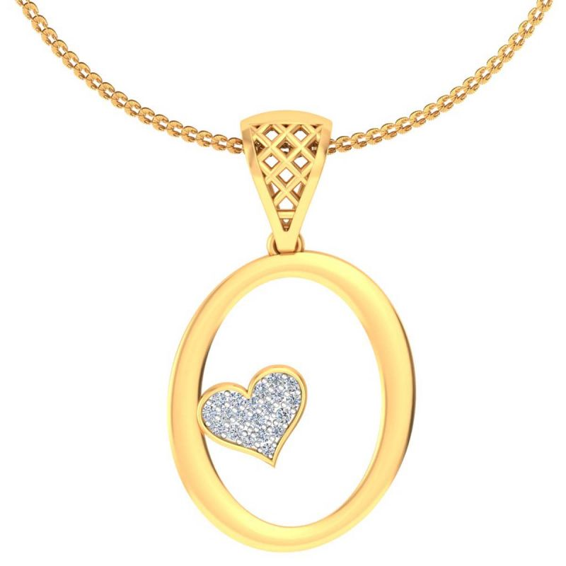Buy Avsar Real Gold and Diamond Anjali Pendant online