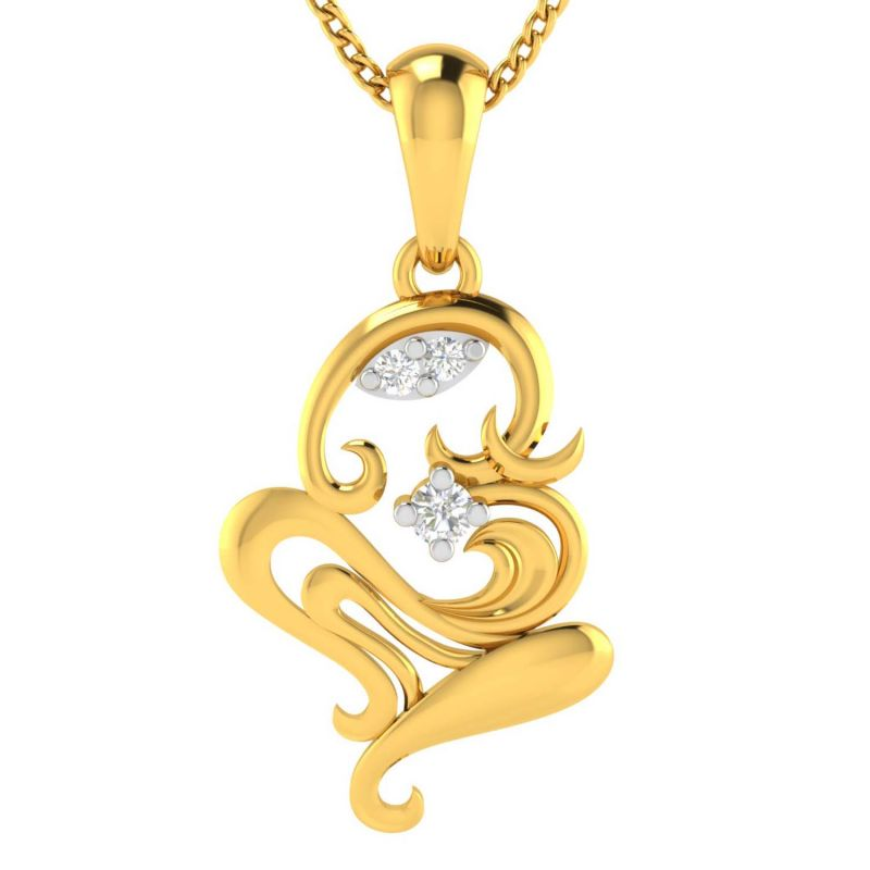 Buy Avsar Real Gold OM Shape God Pendant online