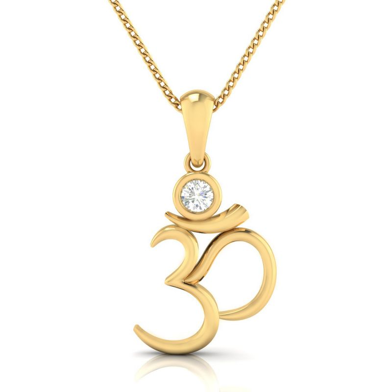 Buy Avsar Real Gold and Diamond Pooja Pendant online