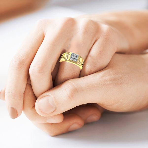 Buy Avsar Real Gold and Diamond Salman Men Ring line