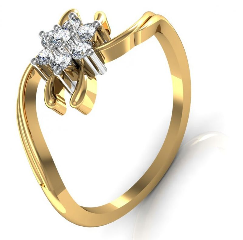 Buy Avsar Real Gold and Swarovski Stone Bhopal Ring online