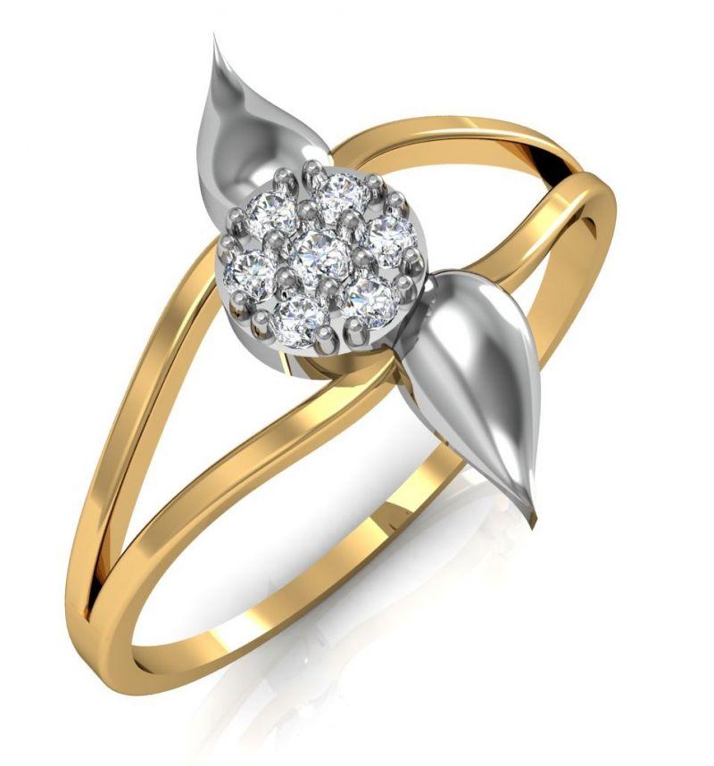 Buy Avsar Real Gold and Swarovski Stone Chennai Ring line