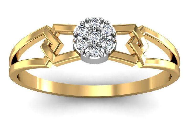 Buy Avsar Real Gold and Diamond Chitra Ring online