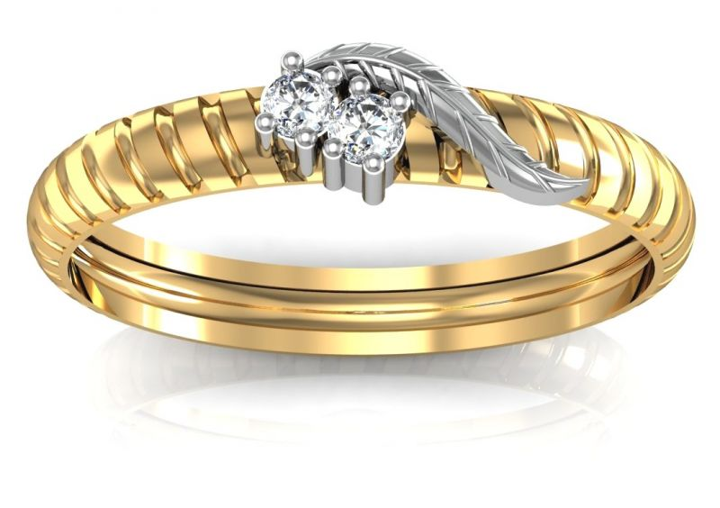 Buy Avsar Real Gold and Diamond Rupali Ring online