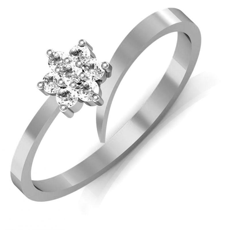 Buy Avsar Real Gold And Swarovski Stone Nagpur Ring Avr062wb online