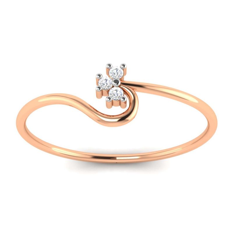 Buy Avsar Real Gold and Diamond Arvika Ring online