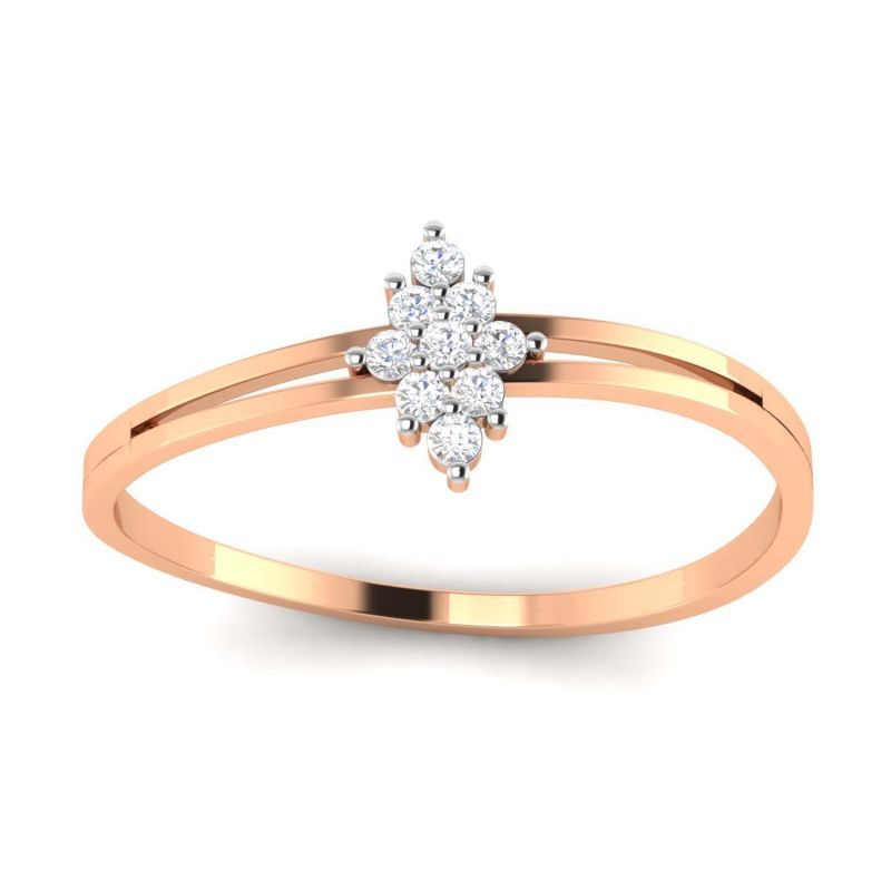 Buy Avsar Real Gold and Diamond Mansi Ring online