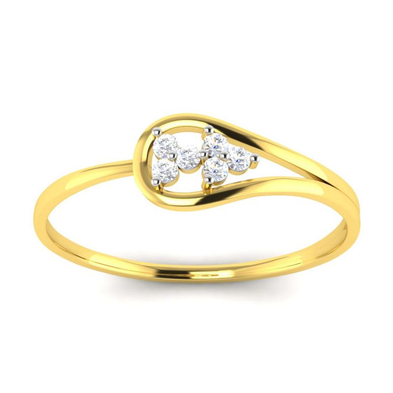 Buy Avsar Real Gold and Diamond Manali Ring online