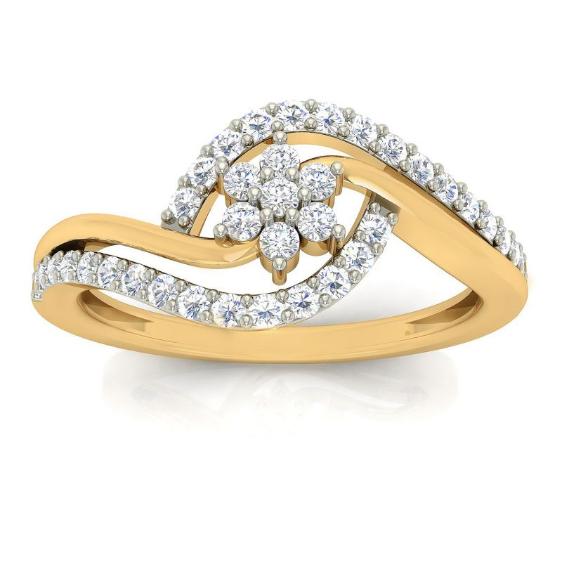 Buy Avsar Real Gold and Diamond Lavnya Ring online
