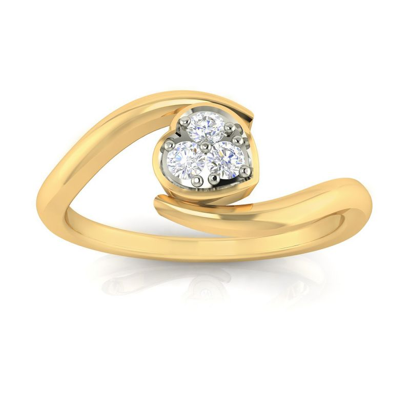 Buy Avsar Real Gold and Diamond Sharayu Ring online