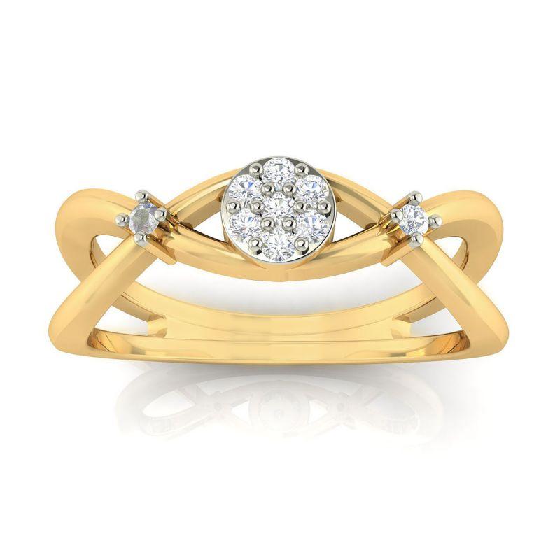 Buy Avsar Real Gold and Diamond Sampda Ring online
