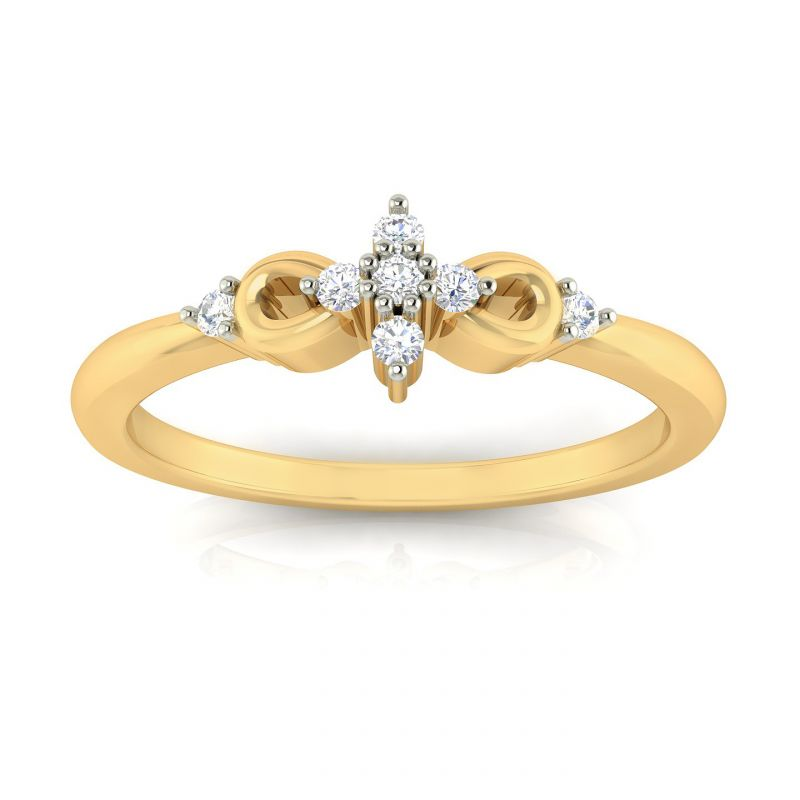 Buy Avsar Real Gold and Diamond Megha Ring online