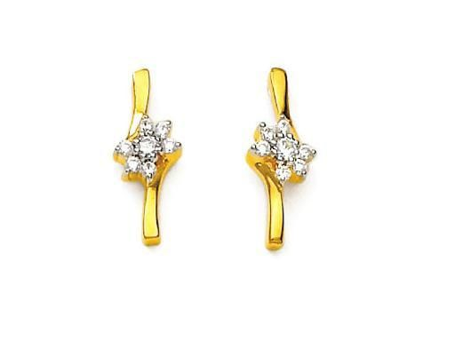 Buy Bling! Real Gold And Diamond Fancy Style Earring online