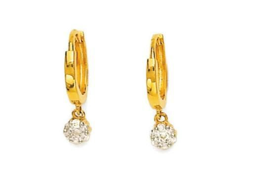 Buy Bling! Real Gold And Diamond Hoop Latkanya Earring online