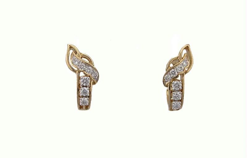 Buy Bling Earrings with Real Gold and Diamonds online