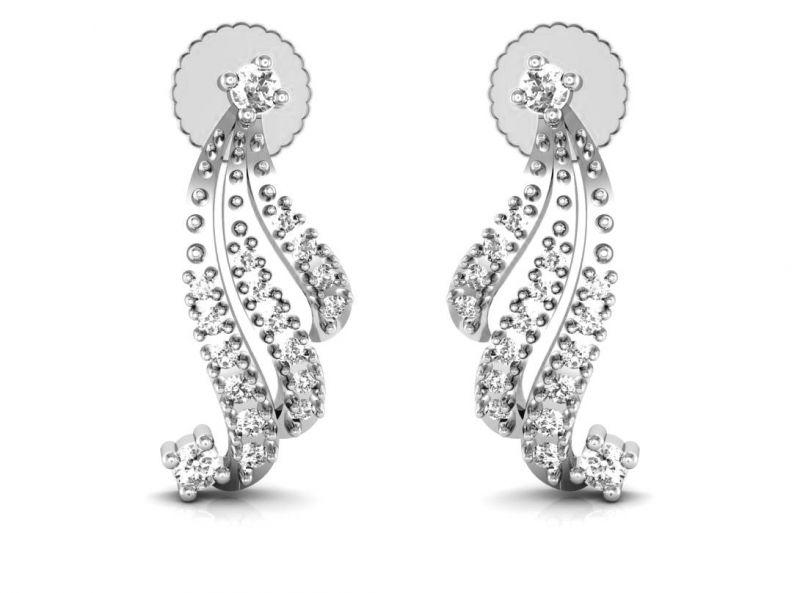 Buy Avsar Real Gold And Swarovski Stone Jammu Earring Bge011wb online