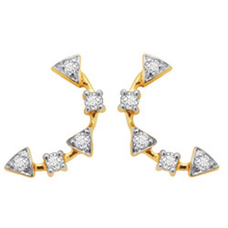 Buy Avsar Real Gold And Diamond Shraddha Earring ( Code - Bge020n ) online