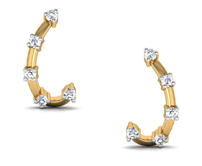 Buy Avsar Real Gold and Diamond Rohini Earring online