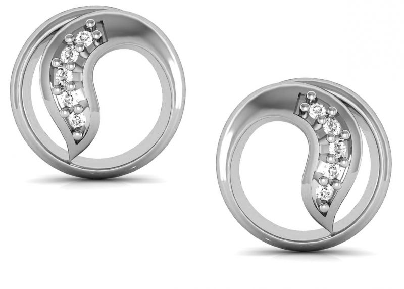 Buy Avsar Real Gold and  Swarovski Stone Sneha Earring online