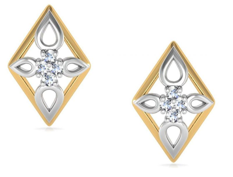 Buy Avsar Real Gold and  Swarovski Stone Aditi Earring online