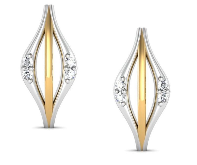 Buy Avsar Real Gold and  Swarovski Stone Aishawarya Earring online