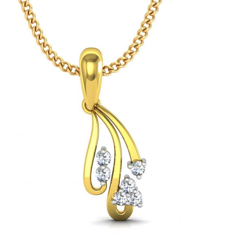 Buy Avsar Real Gold and Swarovski Stone Sneha Pendant online