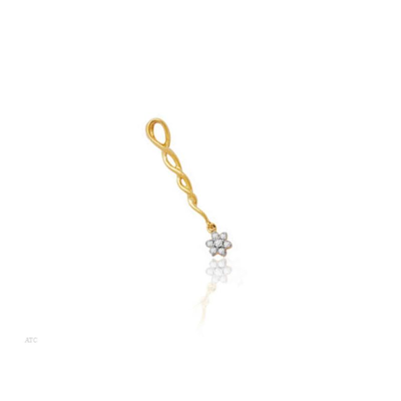 Buy Avsar Real Gold And Diamond Snehal Pendant ( Code - Bgp015n ) online