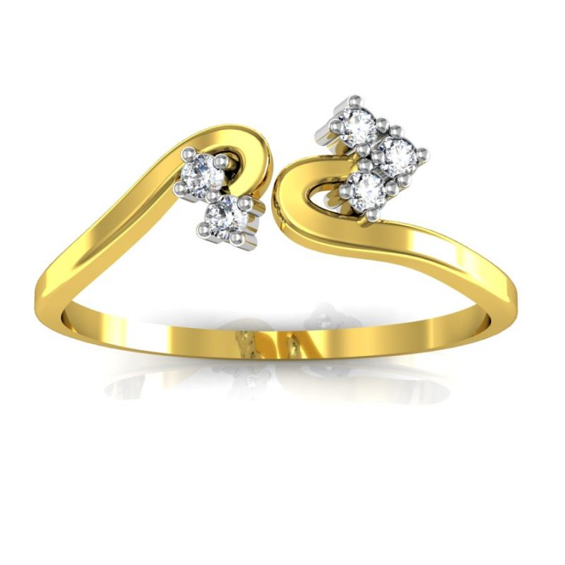 Buy Bling Ring! Real Gold and Diamond Chitra Ring online