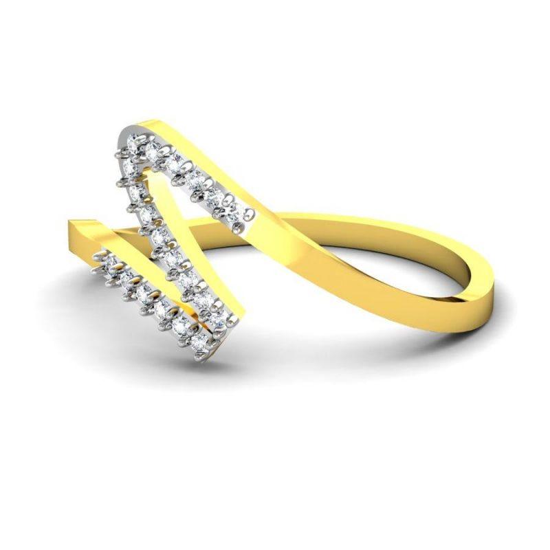 Buy Avsar Real Gold And Swarovski Stone Aakansha Rings Bgr014yb online