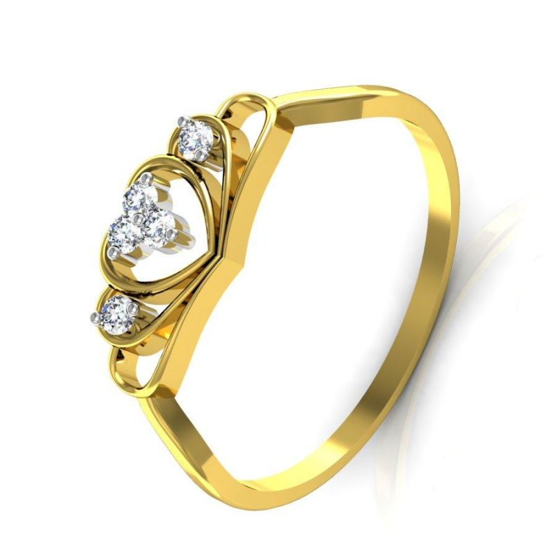 Buy Avsar Real Gold and Swarovski Stone Mumbai Rings online