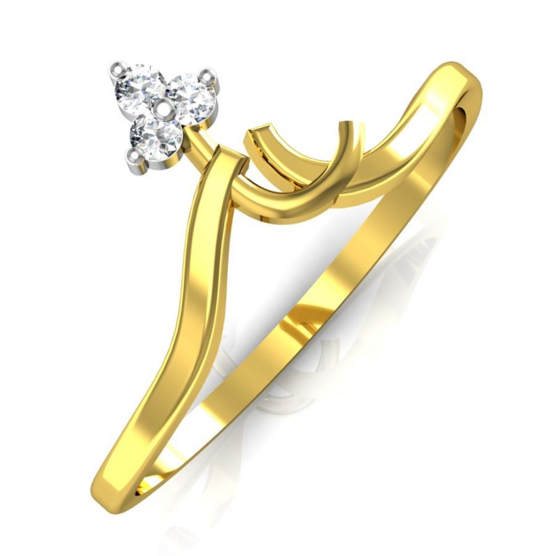 Buy Avsar Real Gold And Swarovski Stone Chennai Ring Bgr018yb online