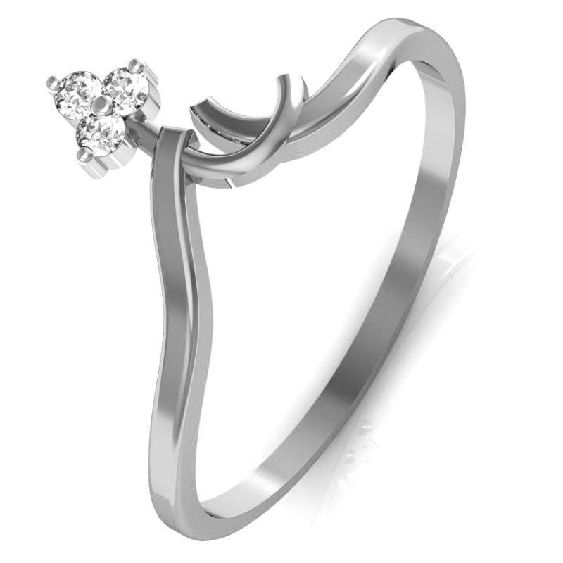 Buy Avsar Real Gold And Swarovski Stone Sikkim Ring Bgr018wb online