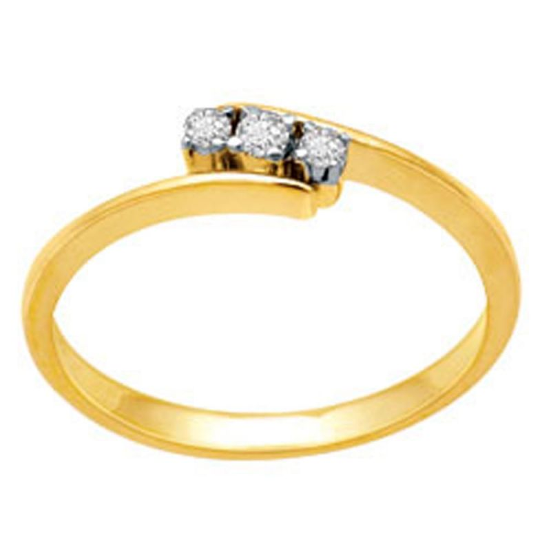Buy Avsar Real Gold And Diamond Sakshi Ring ( Code - Bgr022n ) online
