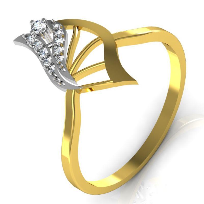 Buy Avsar Real Gold And Swarovski Stone Kajal Ring Bgr036yb online