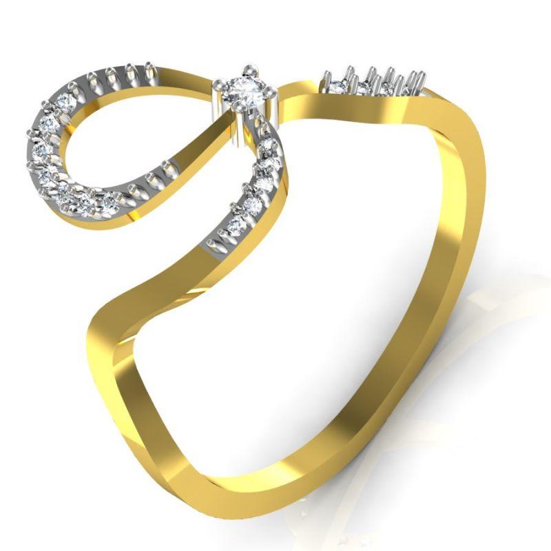Buy Avsar Real Gold And Swarovski Stone Anjalee Rings Bgr037yb online